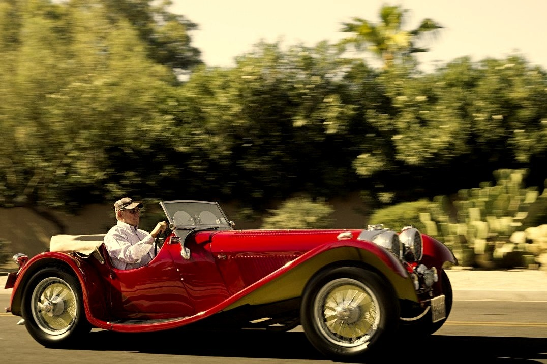 Funky colored, and exceptionally rare, Jaguar SS100