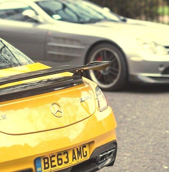 Mercedes-Benz SLS AMG Black Series & McLaren SLR 722 (Instagram alexpenfold)